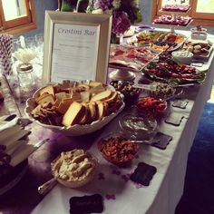 Crostini Bar for parties