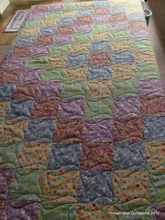 Neat way to quilt just plain squares.  Yes it is.
