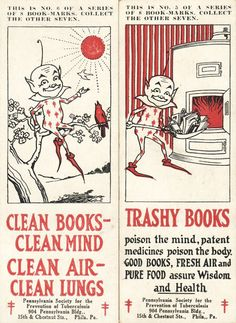 clean books, clean mind  |  trashy books poison the mind
