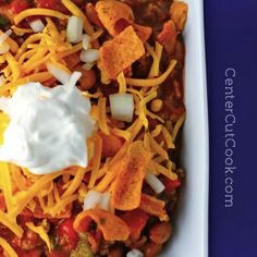 Slow Cooker Chili. Great flavor and pretty spicy! We love spicy food so this was perfect for us. This will be our go to chili recipe now