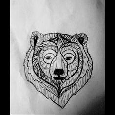 Geometric Bear Drawing Bear drawings andGeometric Bear Drawing