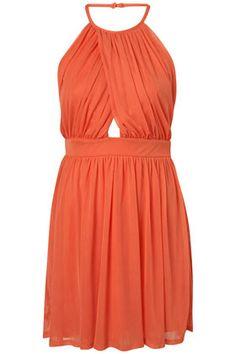 cute orange spring dress