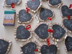 Chalkboard valentines tutorial