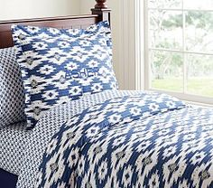Asher Ikat | Pottery Barn Kids. For Logan's room