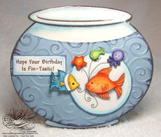Such a darling Fin-tastic Birthday Card. #crafts #cards #scrapbooking #fish