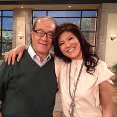 Adorable photo of @JulieChen and her dad on #TheTalk set! #HappyFathersDay