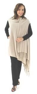 Wrap Yourself in True Lightweight Stylish and Unusual Oatmeal Cashmere Luxury