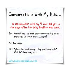 Conversations with My Kids: The Belly Blues
