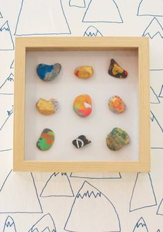 How to make a spin art shadow box to display your child's art