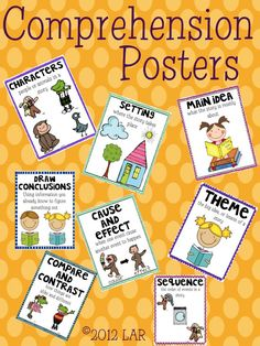 $3.00 on teachers pay teachers - Need to make these for my Reading Board... Comprehension Posters