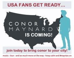 Conor's coming to the USA! Get hyped! He'll be in New York City next week EEEEP! http://bit.ly/mayniacs