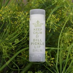 Dill Pickle Lip Balm  A little something we've been Gherkin on to make your lips shiny and briny,  Pucker up & get in the Spear-it Kosher bound to get a Peck when you wear it!