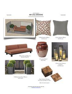 deck furnishings via Mr Call Designs