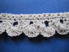 4 simple crochet trims or edgings