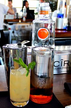 Lots of great summer cocktails here using Ciroc Vodka. Yum!