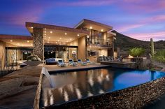 Luxurious award-winning single family property designed by Tate Studio Architects located in Scottsdale, Arizona.