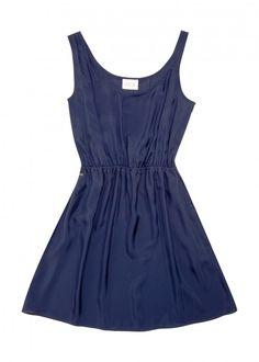 Wood silk dress- dark blue by Studio JUX, €144,95 #sisterMAG #Products