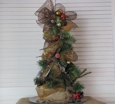 Gold #Burlap #Christmas #Tree  $35.00 plus shipping  www.facebook.com/wreathswithareason