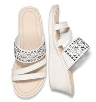White Double-Band Lightweight Wedge Sale $24.99