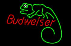 Budweiser Louie Lizard Neon Beer Sign