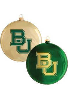 Glass #Baylor Christmas ornaments (from Baylor Bookstore)