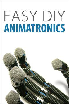 easi diy, animatron hand, craft, bionic hand, hands, kid science, diy projects, halloween, robot hand