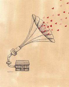 Enough of Silly Love Songs Print  8x10 por lisachow en Etsy, $25,00
