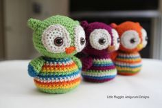 Baby owl free crochet pattern. They look so sweet!