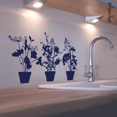 summer flowers, diy fashion, wall decorations, wall decals, sticker, graphics, new kitchens, small gardens, apartments
