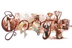 Escritor Charles Dickens charles dickens, googl doodl, happy birthdays, doodles, art, book, 200th birthday, charl dicken, illustr