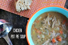 Slow Cooker Chicken Pot Pie Soup, Stove Top Option