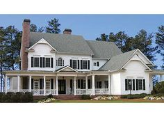 Plan W15754GE: Corner Lot, Luxury, Premium Collection, Farmhouse, Photo Gallery, Country, Traditional House Plans & Home Designs