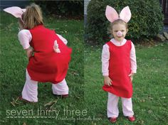 Daddy and Peppa Pig Costume Tutorial