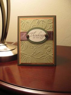 Simple Fall Card by SusieN56 - Cards and Paper Crafts at Splitcoaststampers