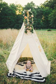 BIG teepee  Plain fabric tent and flags only by moozlehome on Etsy, $165.00