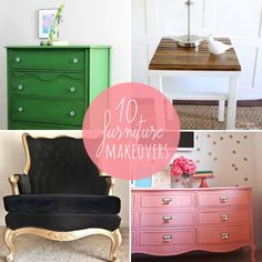 10  DIY :: Furniture makeovers so awesome & easy you'll be skipping to the hardware store to buy a bucket of paint!