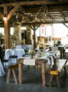 Casual country wedding style