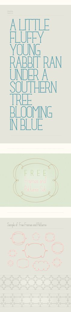 Fabulous Free Font and Frames