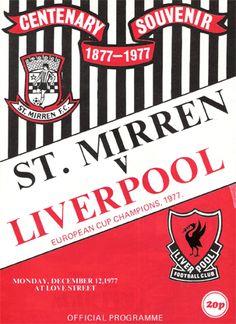 St Mirren v Liverpool  December 1977