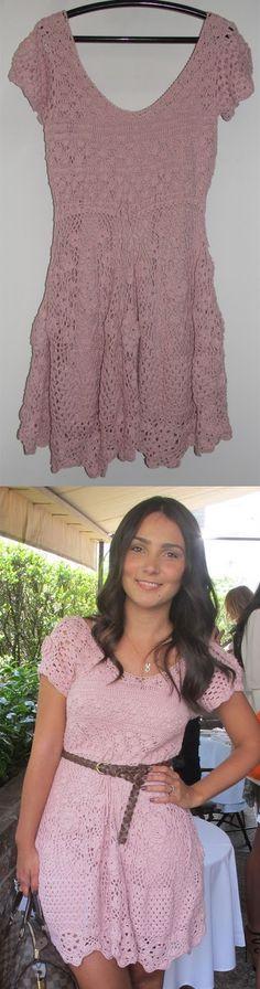 MÉLANGE DE TOUT: Moda: Vestido de crochet