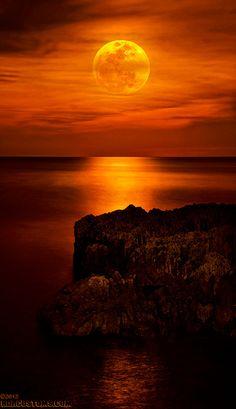 Full Moon rising over Hutchinson Island, FL
