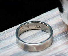 Now that's a good idea!! Better keep your wedding ring on!!