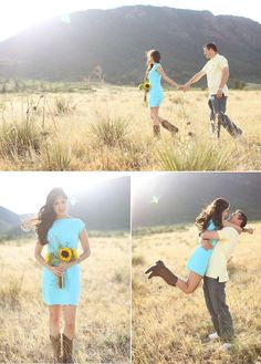 Beautiful Country Engagement Shot