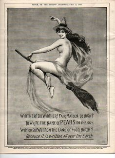 Victorian Pears soap advertisement. And we thought they were prudes