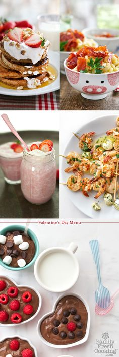 Valentine's Menu with Real California Dairy! FamilyFreshCooking.com