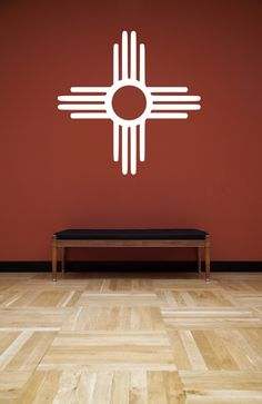 New Mexico Zia Symbol Wall Decal.