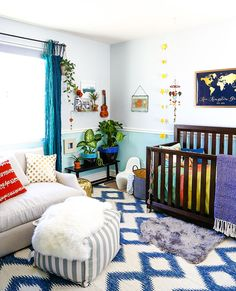 Eclectic, jungly nursery!