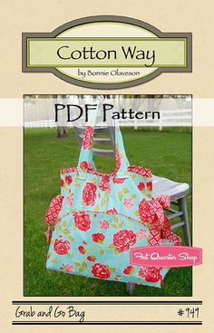 Grab and Go Bag - PDF Sewing Pattern by Cotton Way