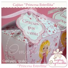 Molde de cajita para cupcakes Princesa Estrellita.
