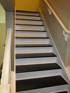 Removed the carpet from my stairs painted them and added some moulding. TeriUliaszBoyungs@Hometalk